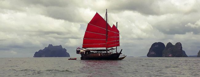 June Bahtra - Spirit of Phang Nga Bay Cruise - Red sails