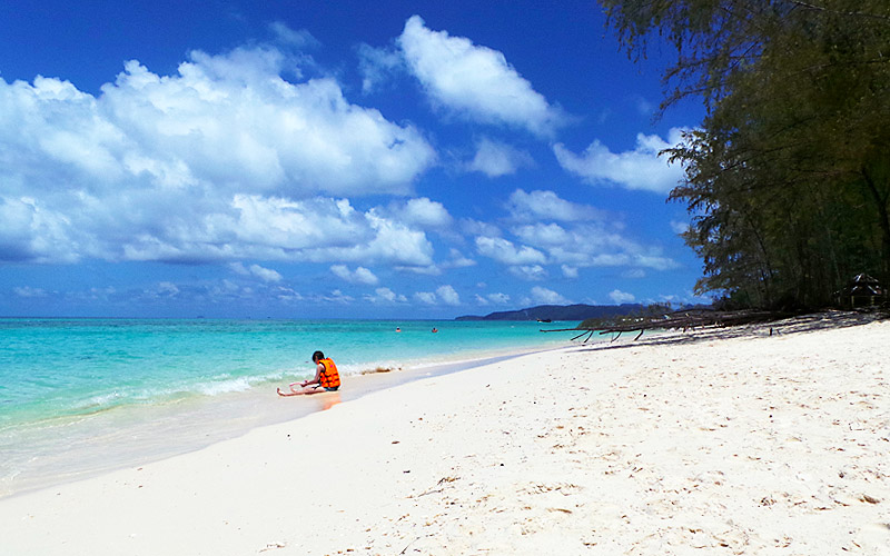 White Sandy Beaches on Bamboo Island