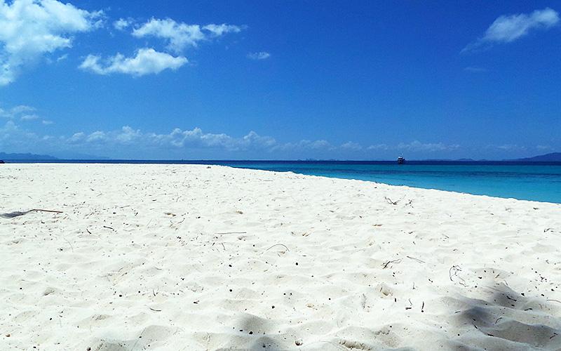 White Sandy Beaches at Bamboo Island