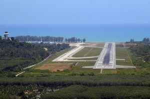Phuket International Airport Landing