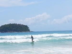 Surfing in Phuket at Kata Beach