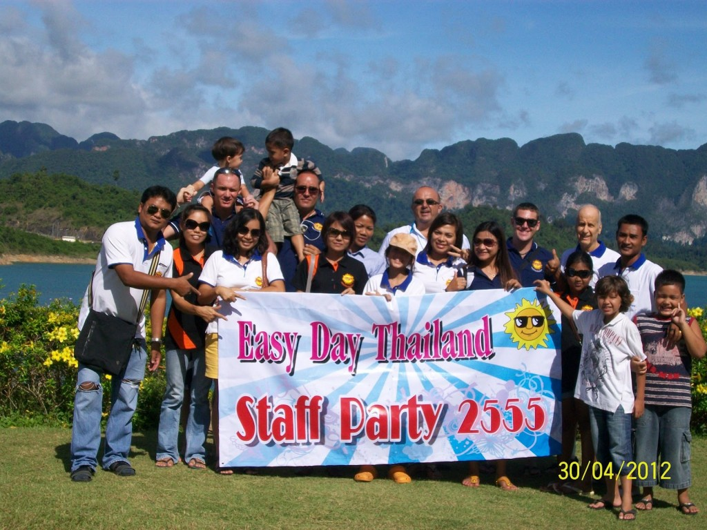 Easy Day Thailand Staff Party 2012 in Khao Sok