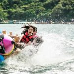 Banana Boat Fun at Banana Beach Koh Hae
