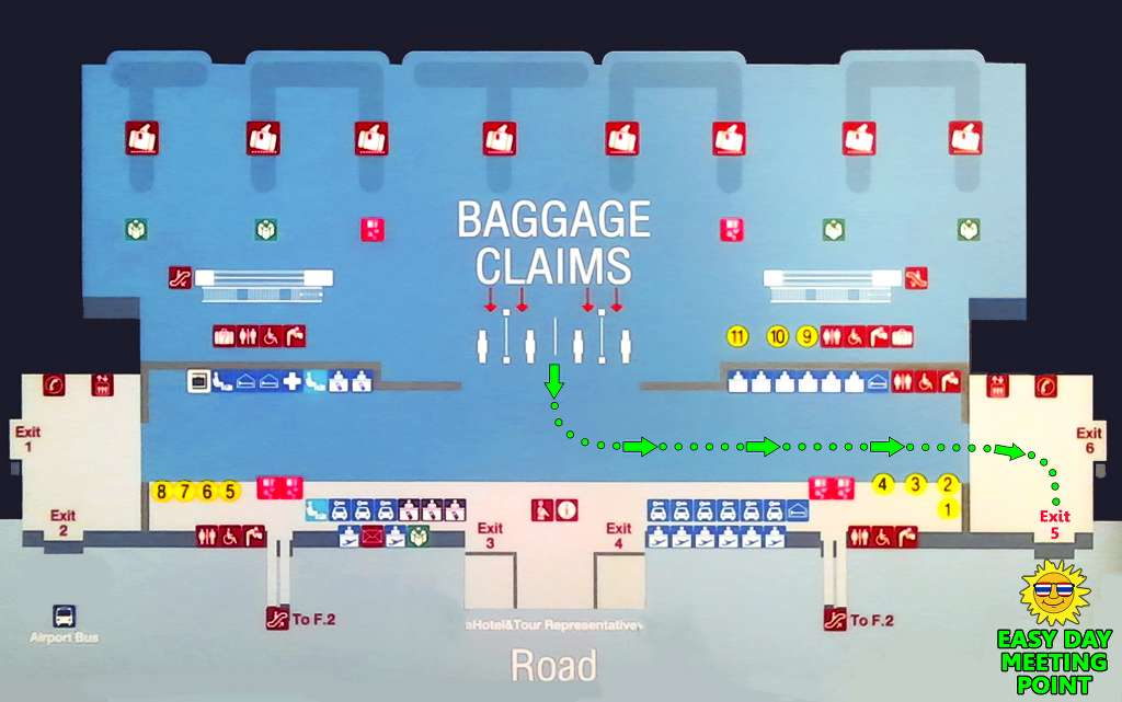 Phuket Airport Transfers - Arrival Hall Map for Phuket International Airport