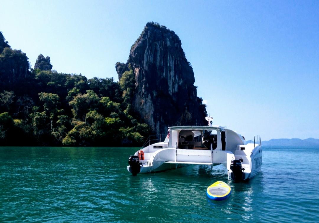 Rendezvous Phuket Power Catamaran afterdeck